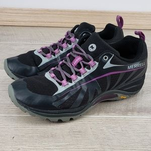 Merrell Siren Edge Black/Purple Vibram Hiking Shoe